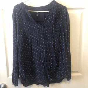 GAP polka dot blouse